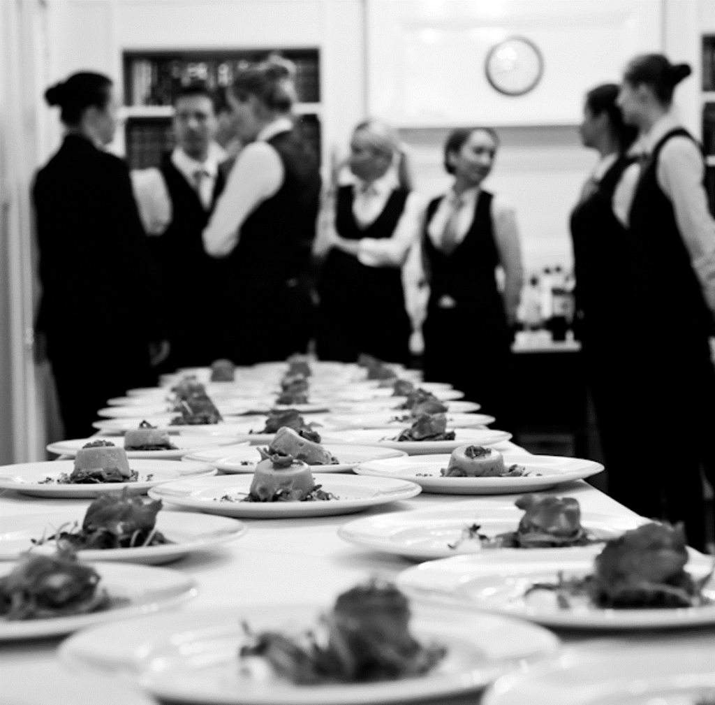 3 course dinner catering in London