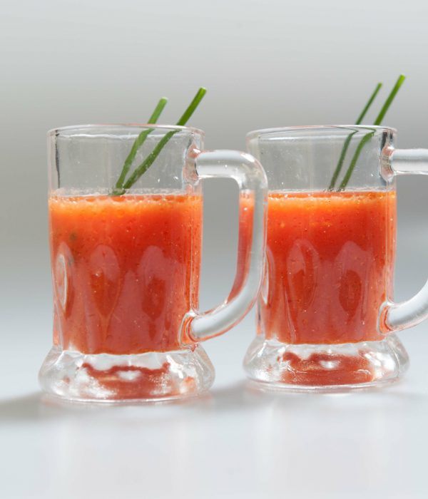 Gazpacho Shots | corporate event catering services| London